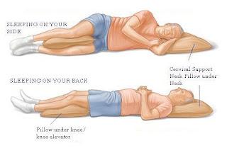 sleep positions - proper way to sleep