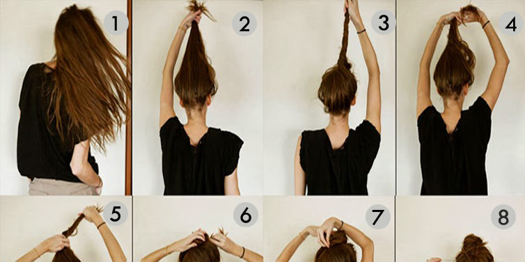 Messy Bun Hairstyles For Long Hair Step By Step - Toronto, Calgary ...