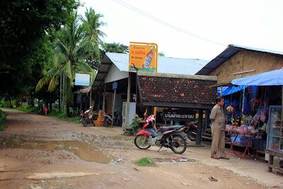 Restaurants sur l'île de Don Khon (Si Phan Don, Laos)