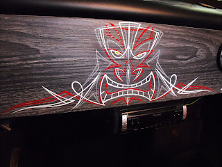 Pinstriped Hot Rod Interior Dash Sydney New South Wales Australia Traditional Signwriters Australia