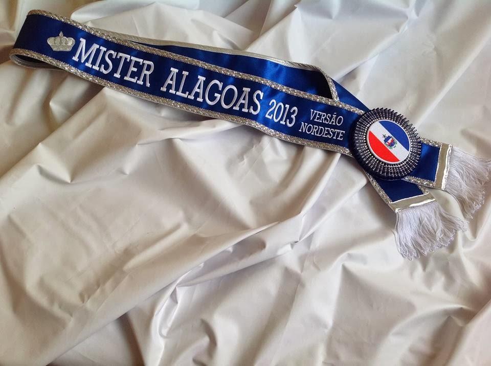 Faixa do Mister Alagoas Nordeste 2013 será entregue no dia 15 de dezembro. Foto: Reprodução