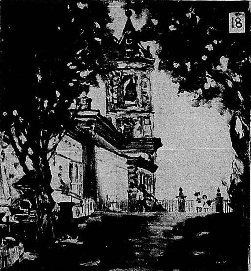 Igreja da Boa Morte de Barbacena MG (Óleo Sobre Tela)