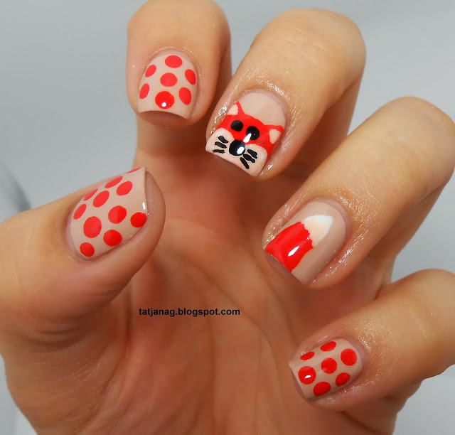 Fall manicure what does the fox say my little beauty world