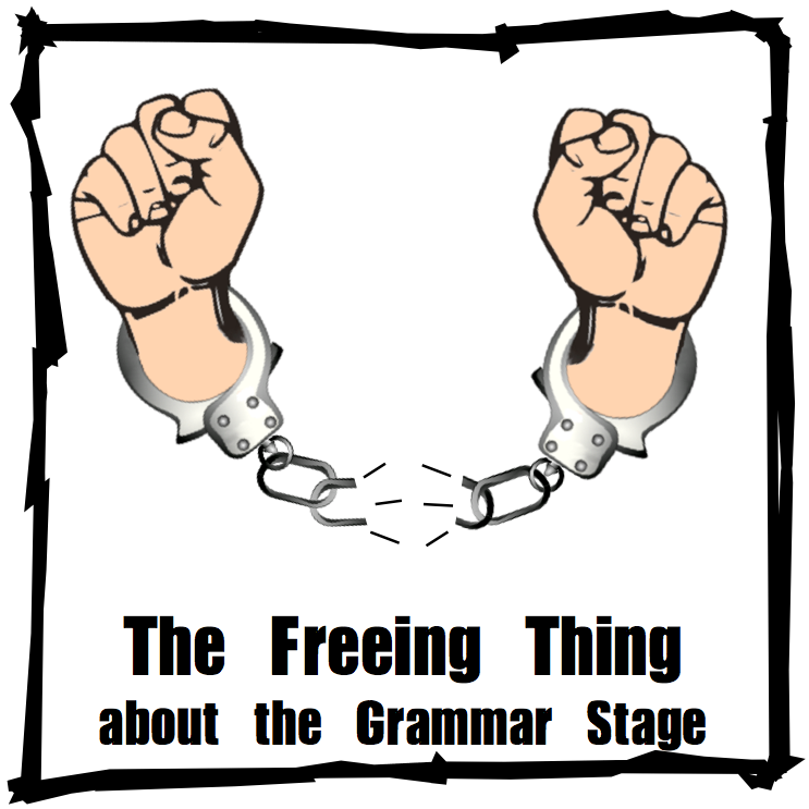 http://www.halfahundredacrewood.com/2013/05/the-freeing-thing-about-grammar-stage.html