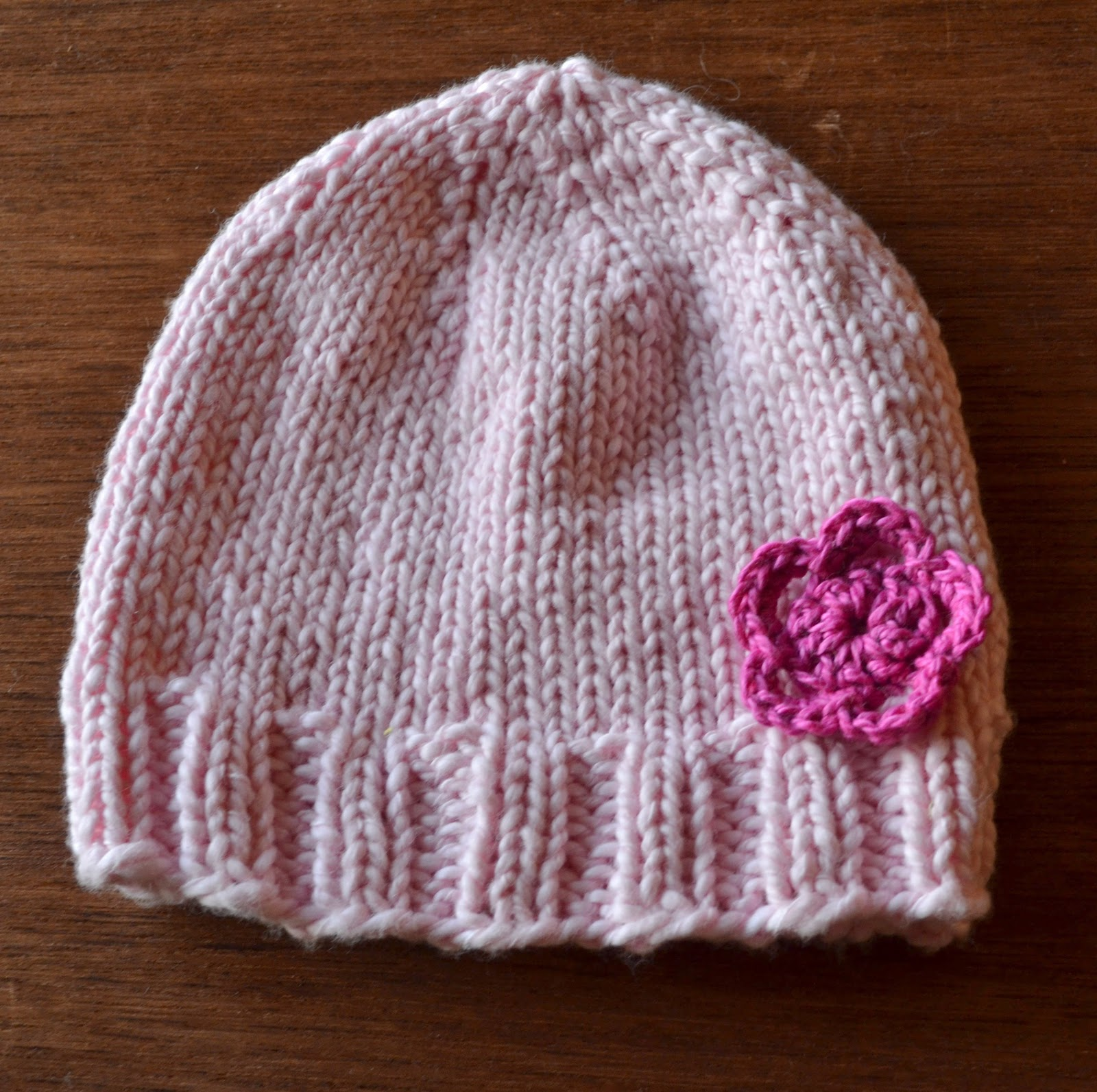 Crochet Patterns Baby Hats With Flowers : field wonderful: flower baby hat (and a little crochet ...