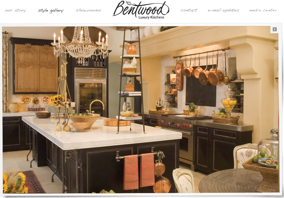 Our french inspired home choosing a french home design for Bentwood kitchen cabinets