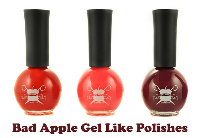 *New Nail Polish Release* Bad Apple Jelly Gel Like Nail Varnishes www.gandeyworld.com