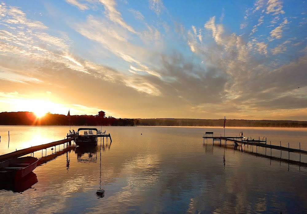 EARLY RISING ON CHAUTAUQUA LAKE