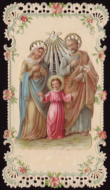 La Sainte Famille dans images sacrée holy+family+decoupage
