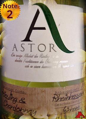 Astor Riesling & Chardonnay Pfalz feinherb 2013/2014