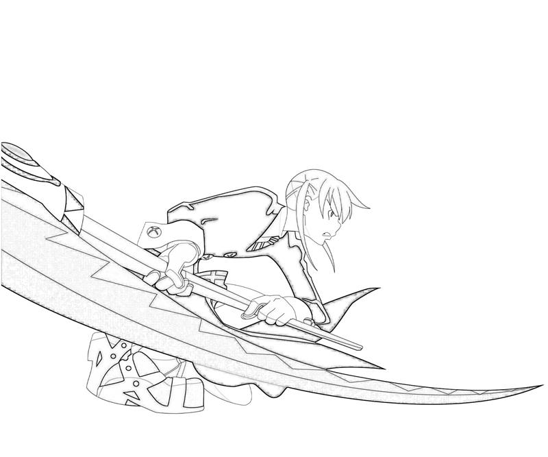 soul-eater-maka-albarn-weapon-coloring-pages