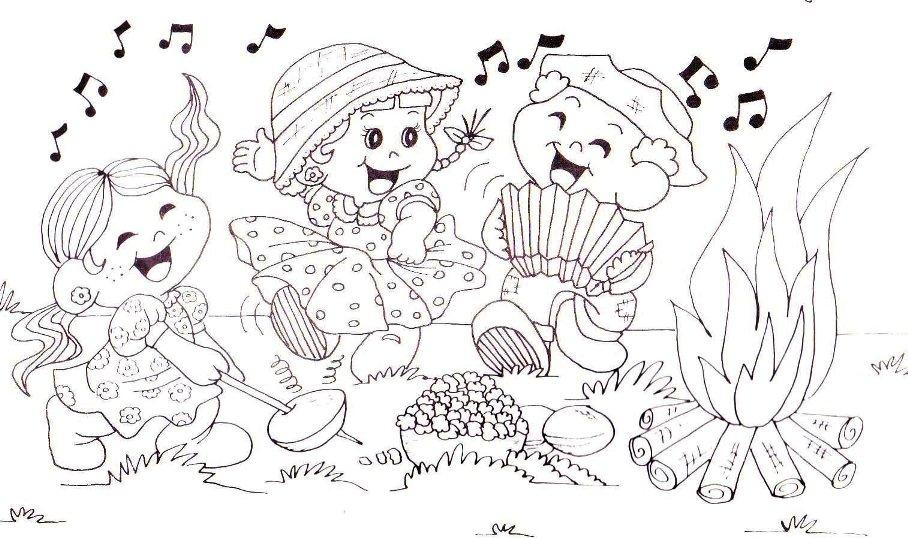 imagens para colorir sao joao - Desenhos de são joão para pintar YouTube