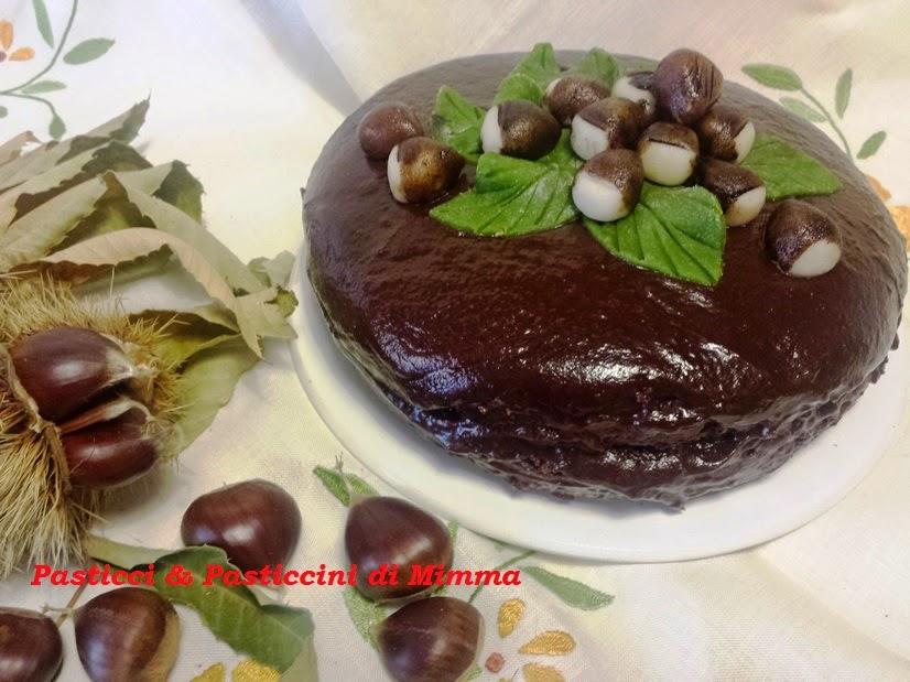 dolce sofficissimo al cioccolato con crema di castagne e ...foscolo aveva proprio ragione!!!