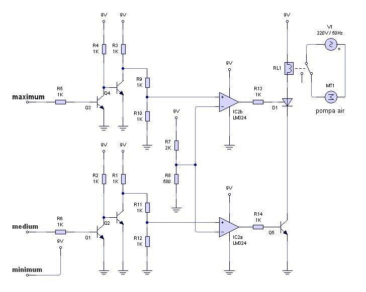 Gambar rangkaian control otomatispompa air