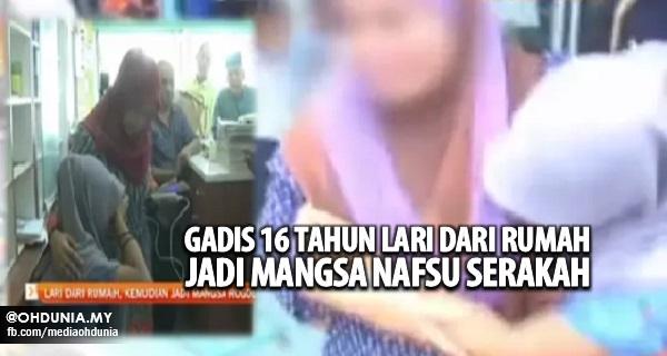 Gadis Remaja 16 Tahun Lari Dari Rumah Jadi Mangsa Nafsu Serakah