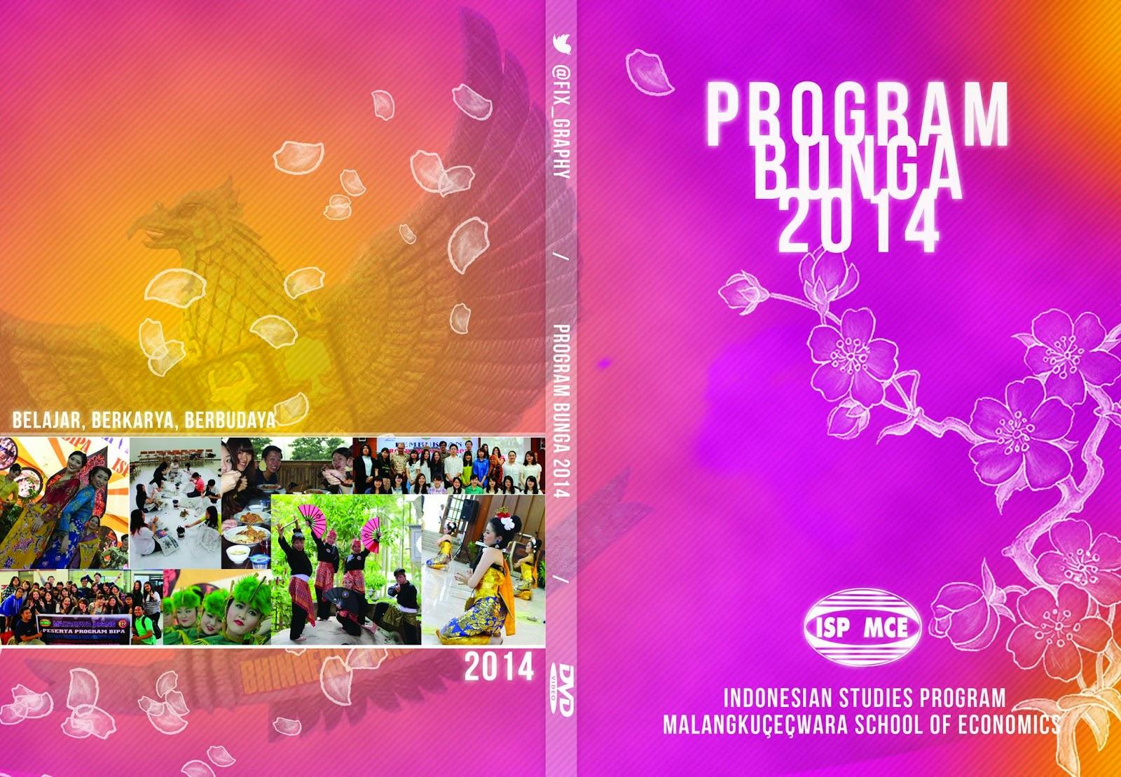 Desain Cover DVD Program Bunga 2014 ISP Malangkucecwara