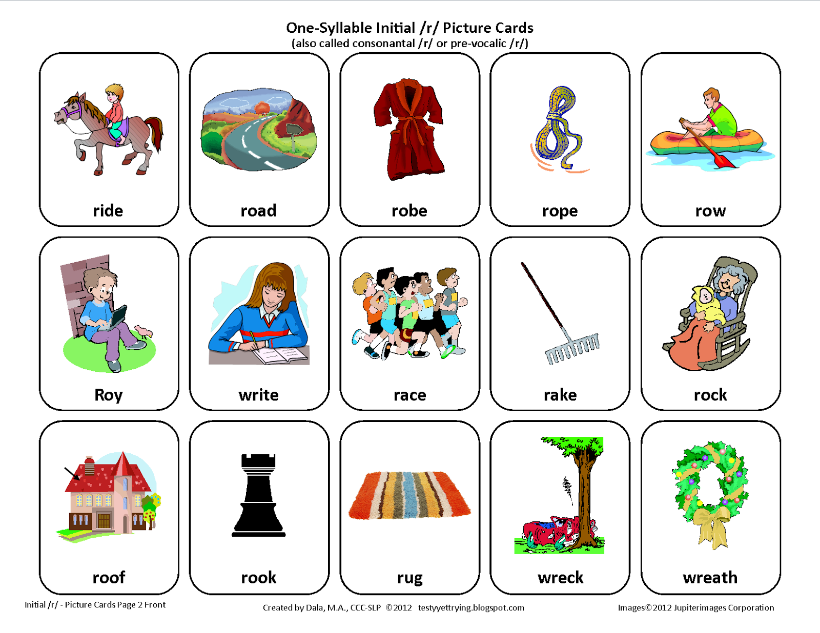 Worksheets R Articulation Worksheets testy yet trying initial r free speech therapy articulation card set