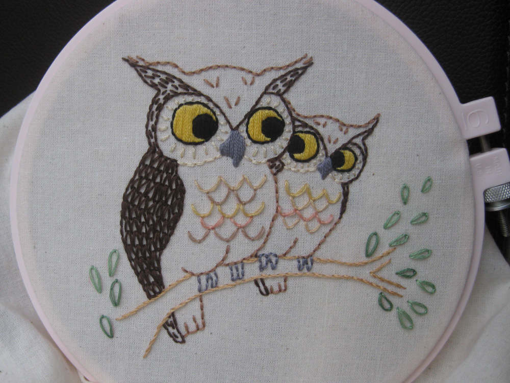 marvelous Owl Embroidery Pattern Part - 15: Owl Embroidery