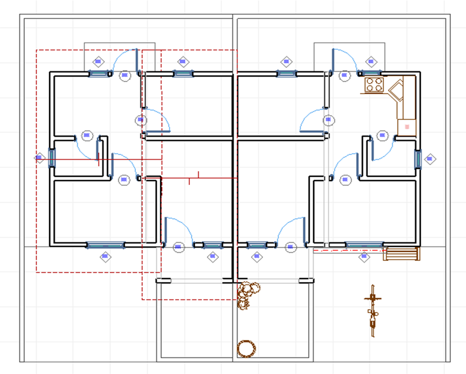 desain rumah cad denah