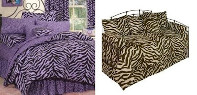 Dorm Room Decorating Ideas | Zebra Print Bedding