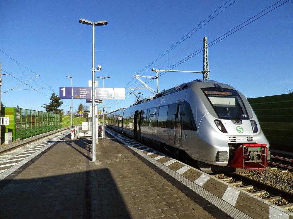 S5X nach Halle am Bahnhof Markkleeberg-Nord