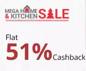 Paytm 51% Cashback on all home and kitchen products