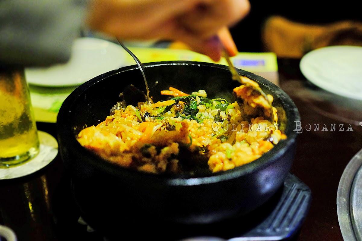 Ishiyaki Bibimba - Hot stone rice with minced beef, vegetables and egg