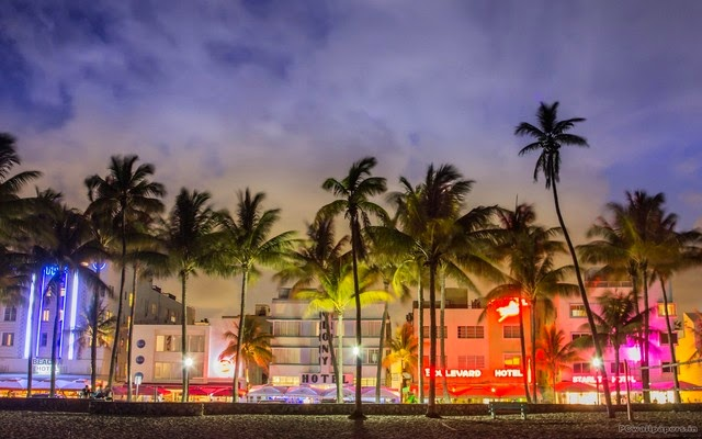 Papel de parede da Ocean Drive em Miami Beach
