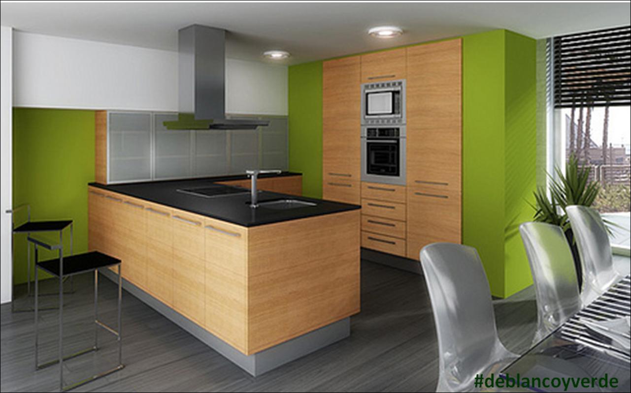 Muebles de cocina ideas de pintura de colores - Pintura para muebles de cocina ...