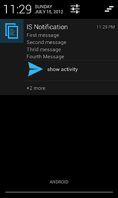 Andriod 4.1 Jelly bean (API 16) Inbox style notification