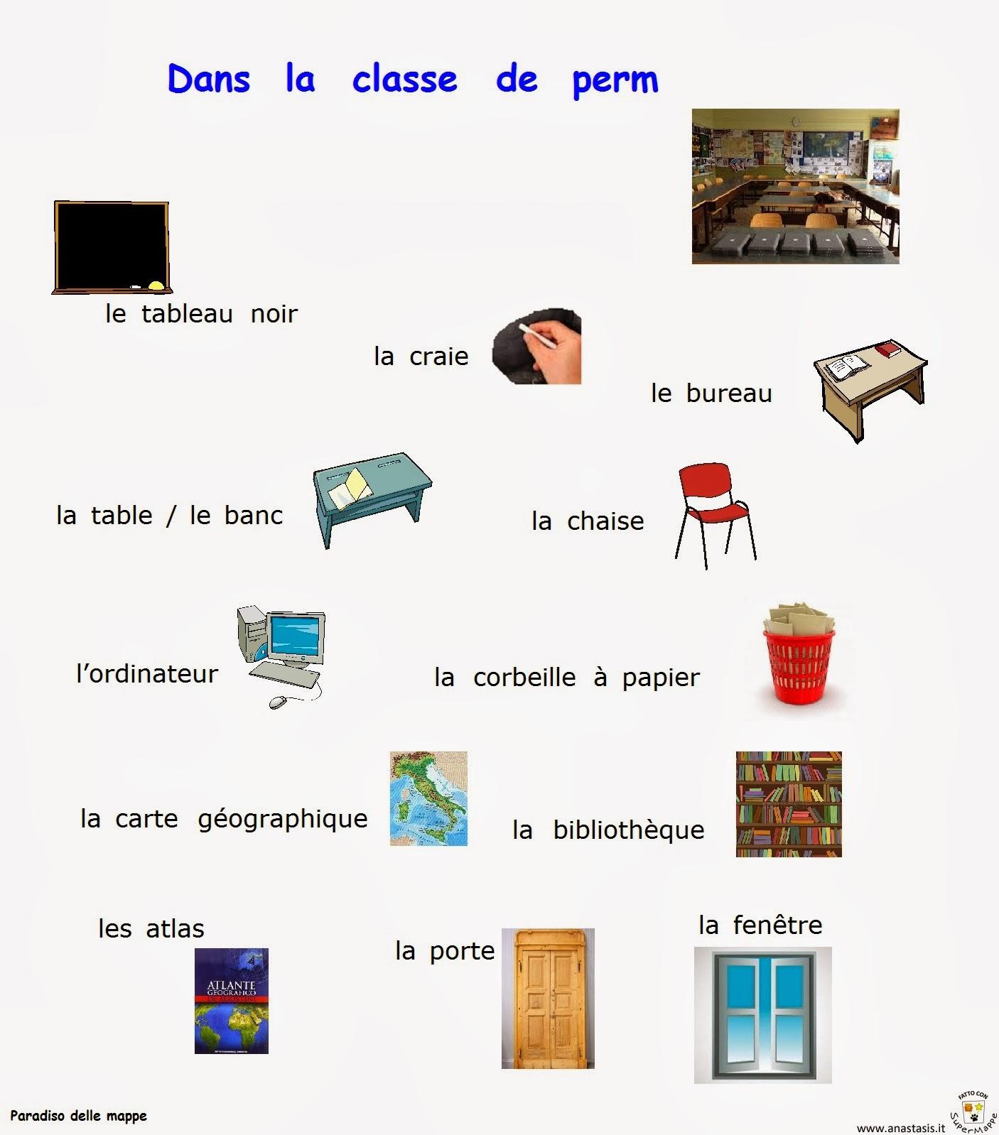 Paradiso delle mappe dans la classe de perm for Design della casa francese