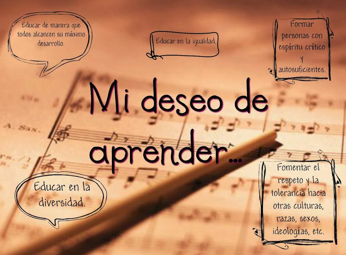 Mi deseo de aprender