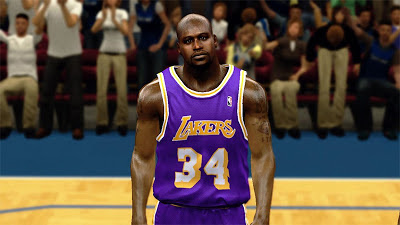 NBA 2K13 Shaq Cyberface - 90's Lakers Patch