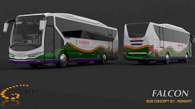 Design bus 3D Falcon PO Lorena Livery