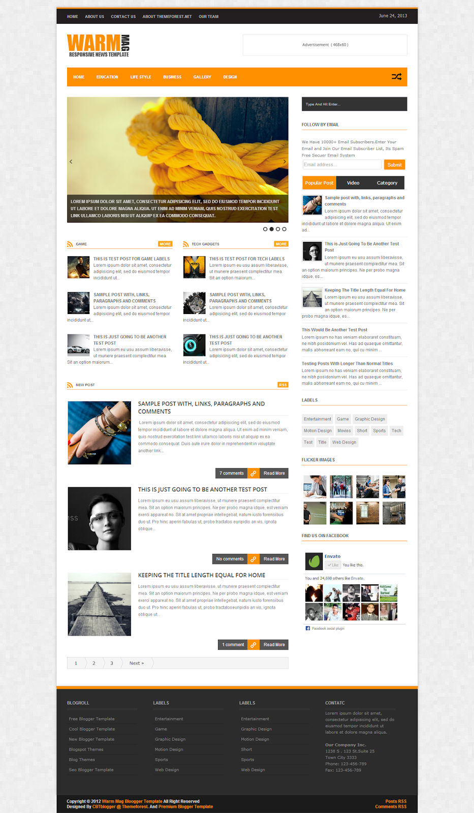 WARM MAG Blogger Template