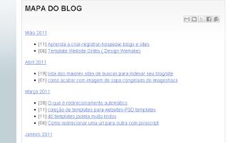 pagina do mapa do blog