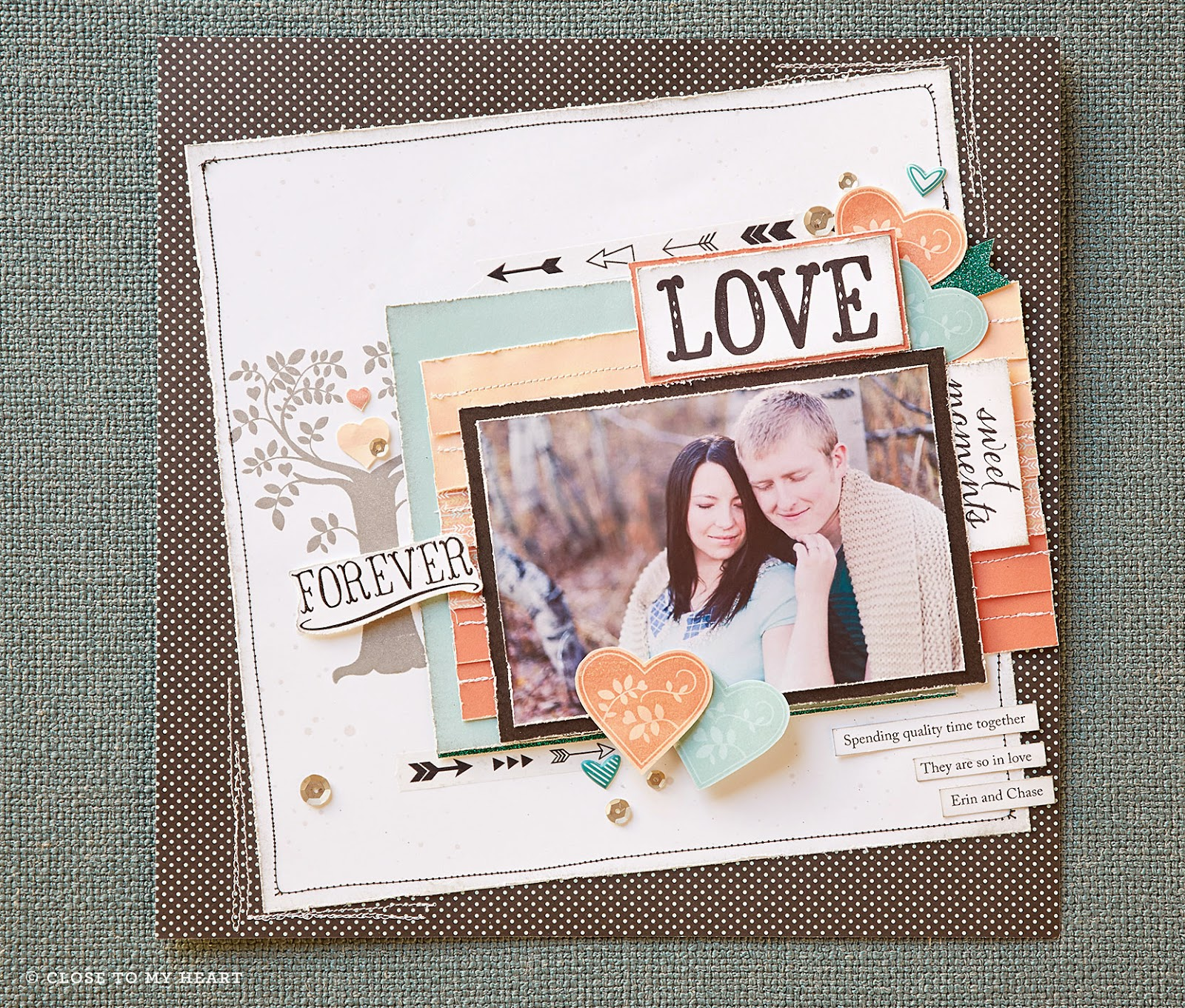family is forever scrapbook layout