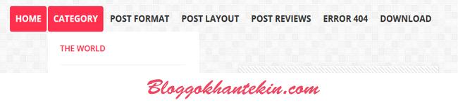 Blogger İçin Şık Görünümlü Bir Menü