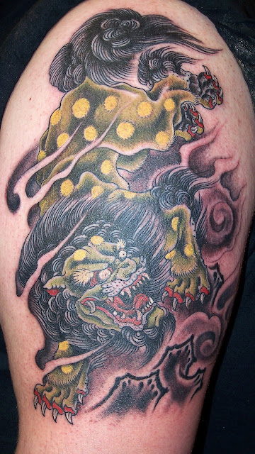 Tatuagem Foo Dog Fu Dog Tattoo Foo Dog Fu Dog - Tattoo Oriental 1