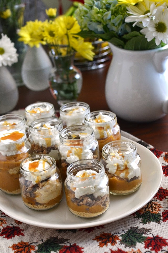 Individual Pumpkin Pies in Baby Food Jars