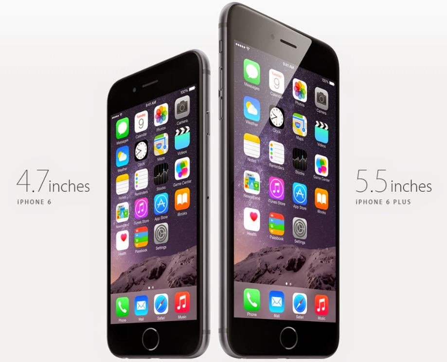 Size: iPhone 6 VS iPhone 6 Plus