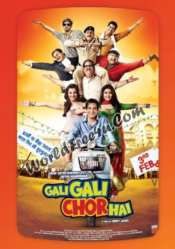 Poster Of Gali Gali Chor Hai (2012) Full Hindi Movie Free Download Watch Online At worldfree4u.com
