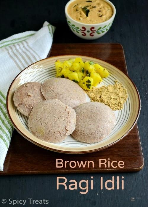 Brownrice Ragi Idli