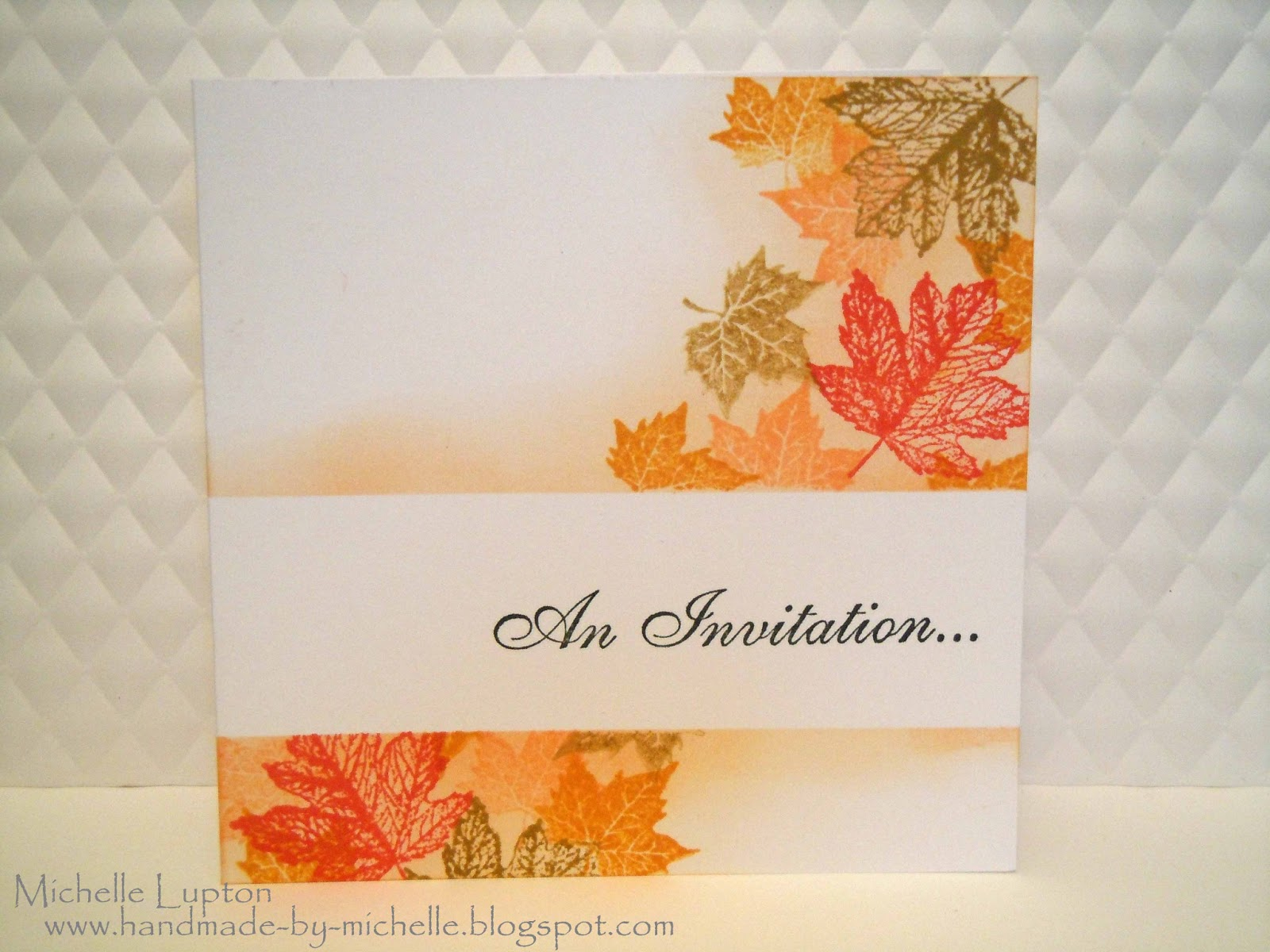 Handmade by michelle wedding invitations she wanted an autumn themed invitation so i made these samples for her she decided not to go with these ideas so i thought id share them here stopboris Images