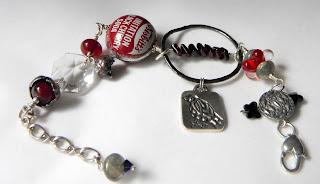Black Cherry Blackbird garnet bracelet