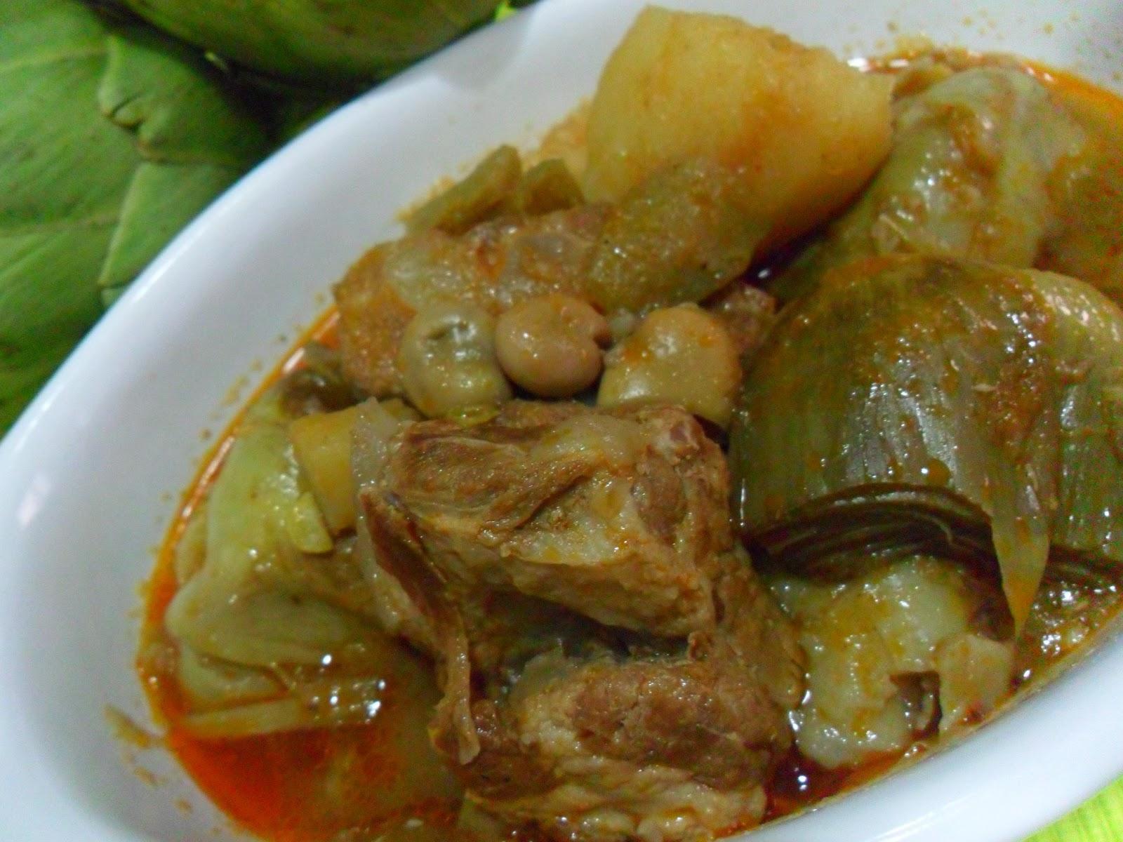 Choconata guiso de costillas alcachofas y habas - Lentejas con costillas y patatas ...