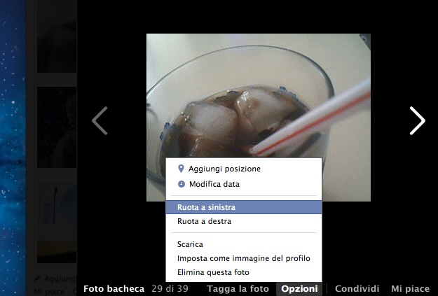 girare foto facebook