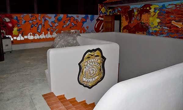 Graffiti Mural logo Roxanne Police