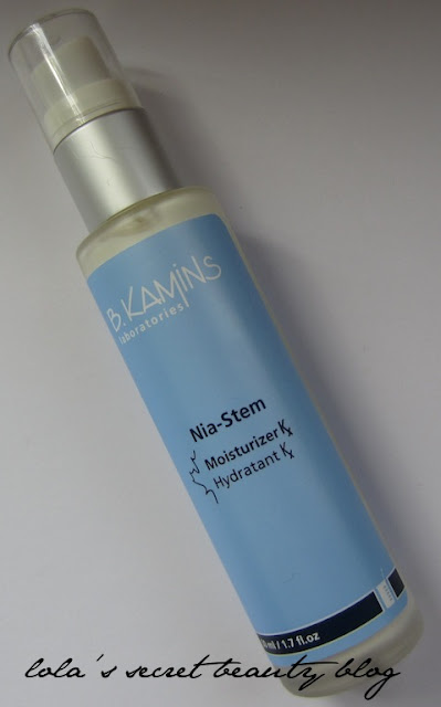 lola's secret beauty blog: B. Kamins Nia-Stem Moisturizer Kx- Review