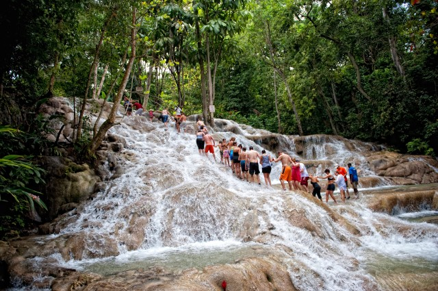 "The Famous ""Dunn's River Falls"" Is Just A Moment Away From ""Mom's Homestyle Restauurant"""